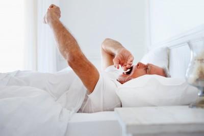 older man bed