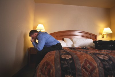 loneliness lonely man alone hotel