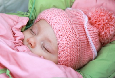 baby asleep bundled up
