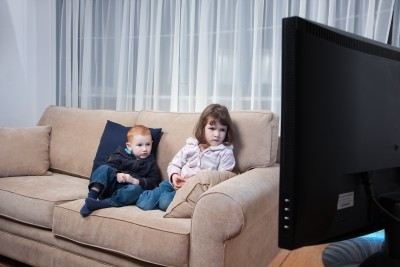 Kids watching tv a lot can lead to trouble sleeping