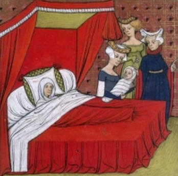 Source: Old and Interesting, 14th-15th century bedroom in France